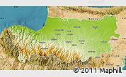 Physical Map of Nicosia, satellite outside
