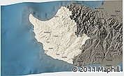 Shaded Relief 3D Map of Paphos, darken