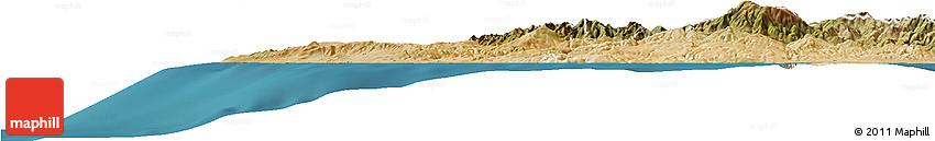 Satellite Horizon Map of Paphos