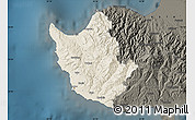 Shaded Relief Map of Paphos, darken