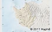 Shaded Relief Map of Paphos, lighten