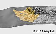 Satellite Panoramic Map of Paphos, desaturated