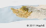 Satellite Panoramic Map of Paphos, lighten
