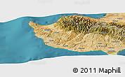 Satellite Panoramic Map of Paphos
