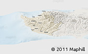 Shaded Relief Panoramic Map of Paphos, lighten