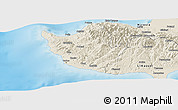 Shaded Relief Panoramic Map of Paphos