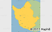 Savanna Style Simple Map of Paphos