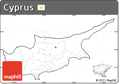 Free Blank Simple Map Of Cyprus No Labels - Cyprus blank map