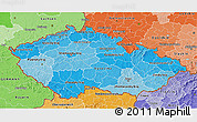 Political Shades 3D Map of Czech Republic
