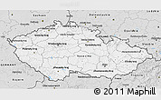 Silver Style 3D Map of Czech Republic