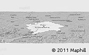 Gray Panoramic Map of hl.m. Praha