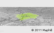 Physical Panoramic Map of hl.m. Praha, desaturated