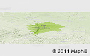 Physical Panoramic Map of hl.m. Praha, lighten
