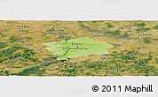 Physical Panoramic Map of hl.m. Praha, satellite outside