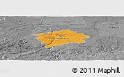 Political Panoramic Map of hl.m. Praha, desaturated