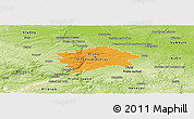Political Panoramic Map of hl.m. Praha, physical outside