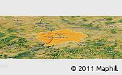 Political Panoramic Map of hl.m. Praha, satellite outside