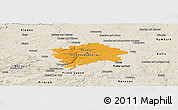 Political Panoramic Map of hl.m. Praha, shaded relief outside