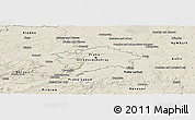 Shaded Relief Panoramic Map of hl.m. Praha