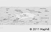 Silver Style Panoramic Map of hl.m. Praha