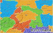 Political 3D Map of Praha
