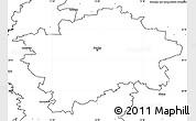 Blank Simple Map of Praha