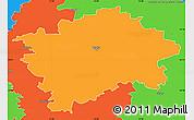 Political Simple Map of Praha