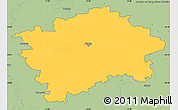 Savanna Style Simple Map of Praha