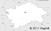 Silver Style Simple Map of Praha
