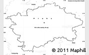 Blank Simple Map of hl.m. Praha