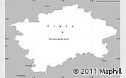 Gray Simple Map of hl.m. Praha