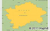 Savanna Style Simple Map of hl.m. Praha