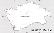 Silver Style Simple Map of hl.m. Praha, cropped outside