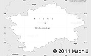 Silver Style Simple Map of hl.m. Praha