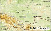 Physical 3D Map of Jihočeský kraj