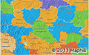 Political 3D Map of Jihočeský kraj