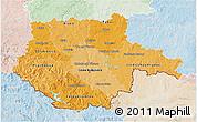 Political Shades 3D Map of Jihočeský kraj, lighten
