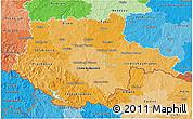 Political Shades 3D Map of Jihočeský kraj