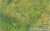 Satellite 3D Map of Jihočeský kraj