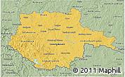 Savanna Style 3D Map of Jihočeský kraj