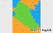 Political Simple Map of České Budějovice
