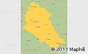 Savanna Style Simple Map of České Budějovice