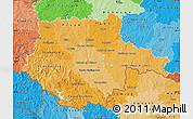 Political Shades Map of Jihočeský kraj
