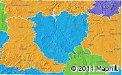 Political 3D Map of Písek