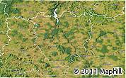 Satellite 3D Map of Písek