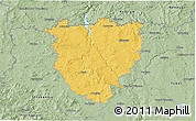 Savanna Style 3D Map of Písek
