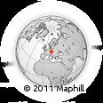 Outline Map of Písek