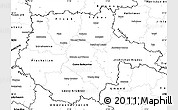Blank Simple Map of Jihočeský kraj