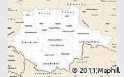 Classic Style Simple Map of Jihočeský kraj