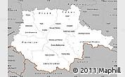 Gray Simple Map of Jihočeský kraj